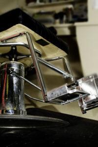 salon chair for handicap | rose pedal salon chair footrest