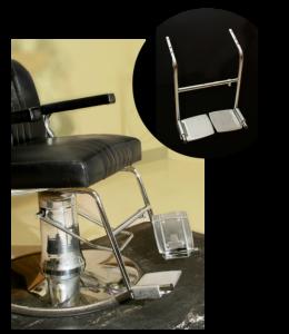 salon chair footrest for handicapped | rose pedals salon chair footrest